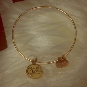 Alex and Ani 'Cheers' rose gold bracelet